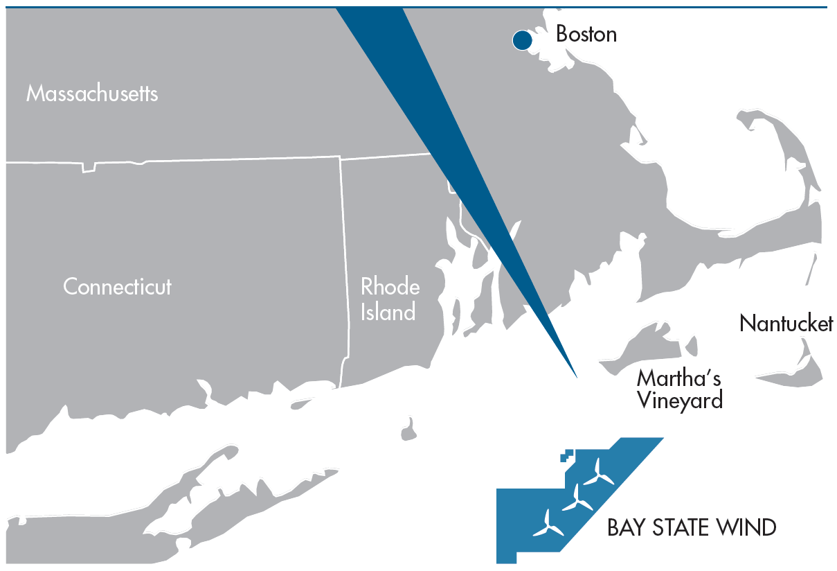 Map of Bay state wind farm